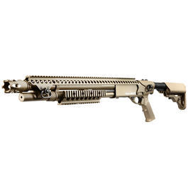 Softair ab 18 - G&P M870 Breacher Medium Shotgun Vollmetall Springer 6mm BB Dark Earth Tan
