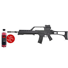 Blowback - S&T Heckler & Koch G36 EBB S-AEG Softair mit HKV-Optik schwarz inkl. Munition