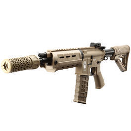 MadBull / Knight's Armament QDC CQB Suppressor Quick Detach schwarz 14mm- Tan