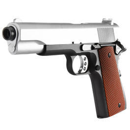 Softair Gun - Well M1911 A1 Vollmetall Springer 6mm BB Two-Tone