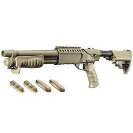 Maruzen - G&P M870 Combat Shorty Shotgun Vollmetall Springer 6mm BB Dark Earth Tan