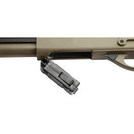 G&P M870 Combat Shorty Shotgun Vollmetall Springer 6mm BB Dark Earth Tan