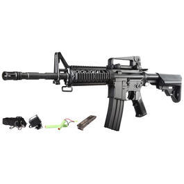 Softair ab 14 - CM M4A1 RIS Carbine Komplettset AEG 6mm BB schwarz
