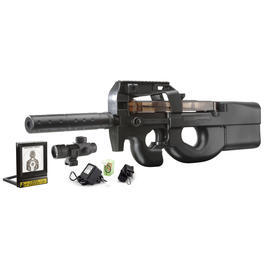 Well Project 09 Softair Komplettset mit Kugelfang AEG 6mm BB schwarz