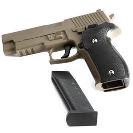 Galaxy G26 P226 Vollmetall Springer 6mm BB Flat Dark Earth