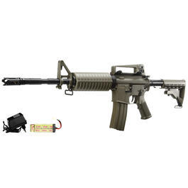 DBoys M4A1 Carbine Metallgearbox Komplettset AEG 6mm BB Dark Earth