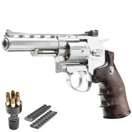 G&G G732 4 Zoll Revolver Vollmetall CO2 6mm BB chrom