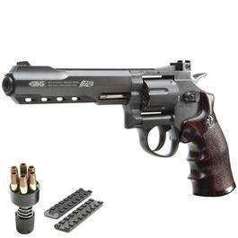 CO2 Zubehör - G&G G733 6 Zoll Revolver Vollmetall CO2 6mm BB schwarz