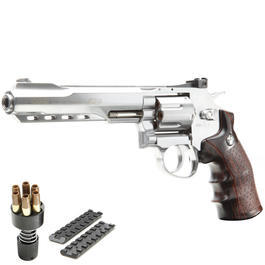 G&G G733 6 Zoll Revolver Vollmetall CO2 6mm BB chrom