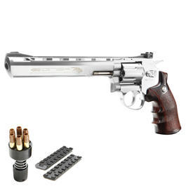 G&G G734 8 Zoll Revolver Vollmetall CO2 6mm BB chrom