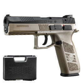 KJ Works CZ P-09 Duty mit Metallschlitten GBB 6mm BB Flat Dark Earth inkl. Koffer