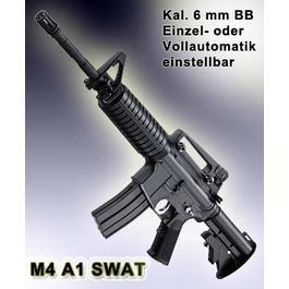 M4A1 SWAT AEG-Komplettset, Kal. 6 mm BB Softair