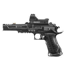Elite Force Racegun Set mit Rotpunktvisier 6 mm BB CO2 Blowback Pistole schwarz
