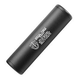 King Arms Special Force Aluminium Silencer 110mm 14mm- / 14mm+ schwarz