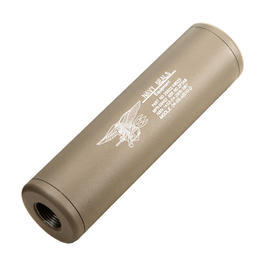 King Arms Navy Seals Aluminium Silencer 110mm 14mm- / 14mm+ Dark Earth