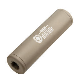 King Arms US Socom Aluminium Silencer 110mm 14mm- / 14mm+ Dark Earth