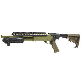 G&P M870 RAS Combat Shorty Shotgun Vollmetall Springer 6mm BB Foliage Green