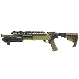 Softair ab 18 - G&P M870 RAS Combat Shorty Shotgun Vollmetall Springer 6mm BB Foliage Green