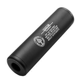 King Arms US Socom Aluminium Silencer 110mm 14mm- / 14mm+ schwarz