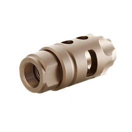 G&P MOTS Tac Style Aluminium Flash-Hider sand 14mm+ / 14mm-