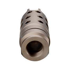 G&P MOTS Style Aluminium Flash-Hider sand 14mm+ / 14mm-