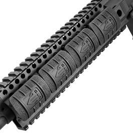UTG Low Profile Max Security Polymer Rail Covers (12 Stück) schwarz