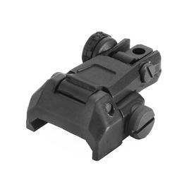 Ares AS-R-020 Nylonfiber Flip-Up Rear Sight schwarz f. 21mm Schienen