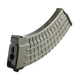 King Arms AK Waffle Pattern Low-Cap Magazin 70 Schuss oliv