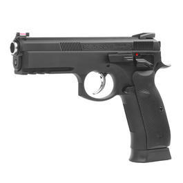 BB Gun - KJ Works CZ 75 SP-01 Shadow Vollmetall GBB 6mm BB schwarz
