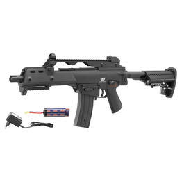 G36 Softair - Jing Gong Mod. 36C Special Operation Force Komplettset S-AEG 6mm BB schwarz