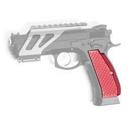 ASG Custom CNC Aluminium Race-Griffschalen f. KJ Works CZ 75 SP-01 Shadow rot