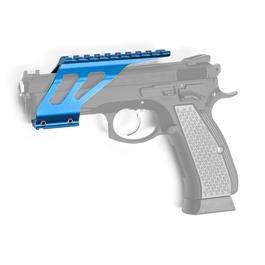ASG Custom CNC 21mm Aluminium Rail Montage f. KJ Works CZ 75 SP-01 Shadow blau