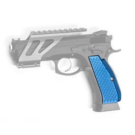 ASG Custom CNC Aluminium Race-Griffschalen f. KJ Works CZ 75 SP-01 Shadow blau