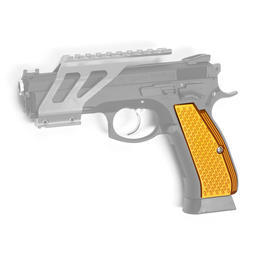 ASG Custom CNC Aluminium Race-Griffschalen f. KJ Works CZ 75 SP-01 Shadow orange