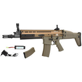 Cybergun FN Herstal SCAR-L Vollmetall Nylon-Version Komplettset S-AEG 6mm BB Tan