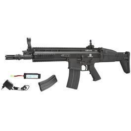 Classic Army - Cybergun FN Herstal SCAR-L Vollmetall Nylon-Version Komplettset S-AEG 6mm BB schwarz