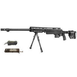 Softair kaufen - Well MB4411B MSR Snipergewehr inkl. Zweibein Springer 6mm BB schwarz
