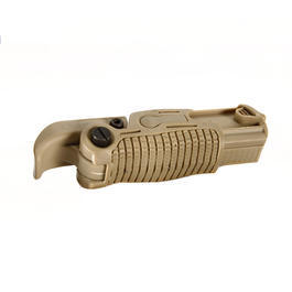 AABB Tactical Foldable Extension Frontgriff f. 21mm Schienen sand