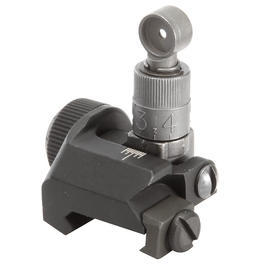 VFC K-Style 600M Flip-Up Rear Sight f. 21mm Schienen schwarz / grau