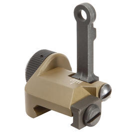 VFC K-Style 300M Flip-Up Rear Sight f. 21mm Schienen Tan