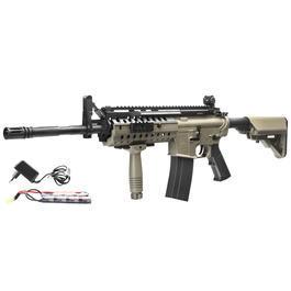 Classic Army Sportline - ASG Armalite M15 S.I.R. Mod. 2 Sportline Komplettset S-AEG 6mm BB Desert Tan