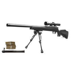 Sniper Softair - Elite Force SX 9 DB Gas / Springer Snipergewehr inkl. Zweibein / Zielfernrohr 6mm BB schwarz
