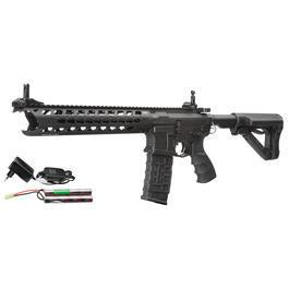 freie Waffen - G&G CM16 Predator ETU-Mosfet Komplettset S-AEG 6mm BB schwarz