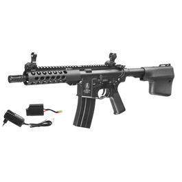 Echo1 Troy M4 M7A1 Battle Rifle Vollmetall Komplettset S-AEG 6mm BB schwarz