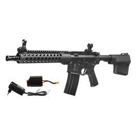 Echo1 Troy M4 TRX10 Battle Rifle Vollmetall Komplettset S-AEG 6mm BB schwarz