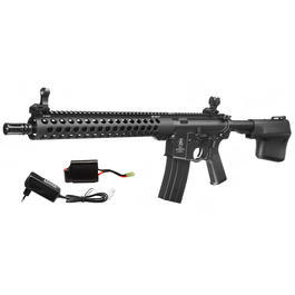 Echo1 Troy M4 TRX13 Battle Rifle Vollmetall Komplettset S-AEG 6mm BB schwarz