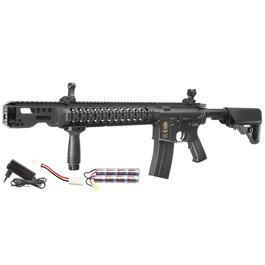 Airsoft - Echo1 M4 Zombat Stryker Carbine Komplettset S-AEG 6mm BB schwarz