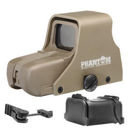 Phantom 551 Red- / Green-Dot Holosight Desert Tan inkl. Staubschutzaufsatz