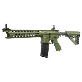 CO2 Softair - G&G GC16 Predator ETU-Mosfet Vollmetall S-AEG 6mm BB Hunter Green