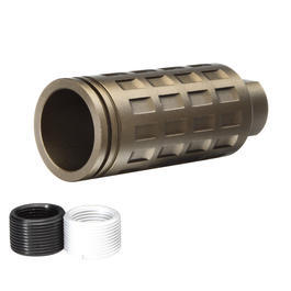 G&P MOTS Checkers Style Long-Type Aluminium Flash-Hider sand 14mm+ / 14mm-